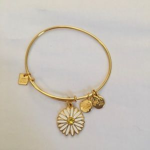 Alex and Ani Gold Daisy Charm Bracelet